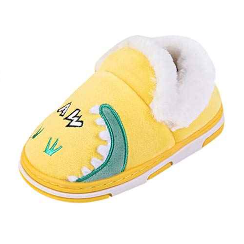 1-10t Little Kid Anti-Slip Cotton Shoes Toddler Boys Girls Warm Shoes Booties Cute Animal Comfort Soft Sole Home Slippers (18-24Months, Yellow) (Furniture Outdoor Ebay Uk)