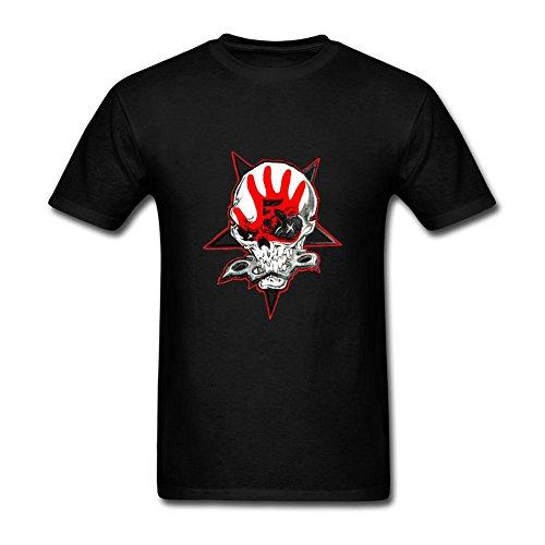 OULIN Men's Five Finger Death Punch Logo T Shirt Black M