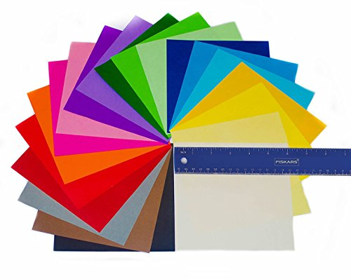Premium Quality for Arts and Crafts 100 Design E-Book Included Origami Paper 500 Sheets 6-inch Square Sheets 20 Vivid Colors Same Color on Both Sides