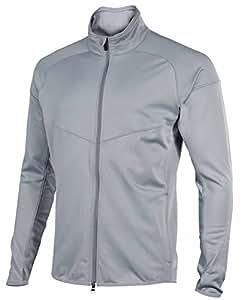 Nike Men's Dri-Fit Thermal Element Running Jacket-Silver-Medium