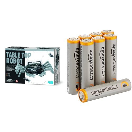 4M Table Top Robot with Amazon Basics AAA Batteries Bundle ()