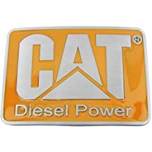 CAT DIESEL POWER - YELLOW RECTANGULAR NEW HIGH QUALITY BELT BUCKLE FOR BELTS. LEATHER BELTS KIDS BELTS MEN'S BELTS - THIS PRODUCT SHIPS FROM ONTARIO, CANADA. HIGH QUALITY - LOW PRICE - FAST SHIPPING DOES NOT CONTAIN NICKEL OR LEAD