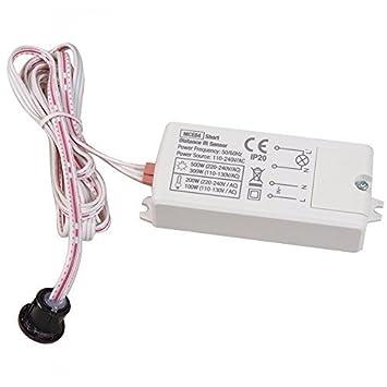 Maclean Energy MCE84 - Detector de presencia PIR de corto alcance empotrado: Amazon.es: Informática