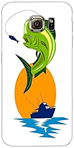 Mahi Pescado Snoogg Dorado Delfín Mahi Saltando Diseñador Protectora Volver F...