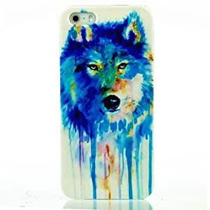 JAJAY Colorful Mixed Wolf PC Case for iphone 5/5S