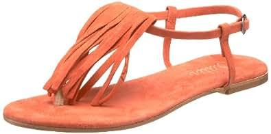 Butter Women's Arlo Fringe Thong Sandal,carrot suede,5 M US