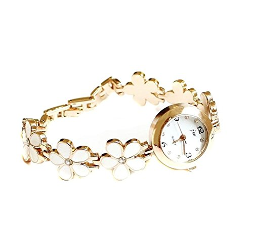 Adorable Woman Korean Daisies Flower Band Bracelet Bangle Wrist Watch for Women Girls with a Stylus from Adorable Woman