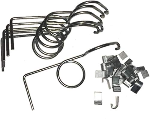 (rabbitnipples.com 6 Pack Wire Door Cage Latches Left with J-Clips)