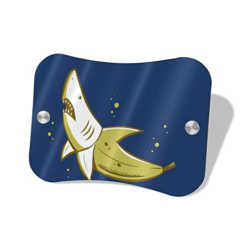 (Banana Shark Door Sign/Name Plate/Door Suite Wall Sign, Complete Sign System Equipped with Screws, for Business Doctor Law Firm Home Office Cafe Shop)