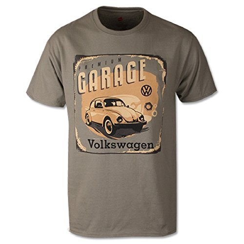 Genuine Volkswagen VW Driver Gear Premium Garage T-Shirt Tee (Large, Stonewashed Green)