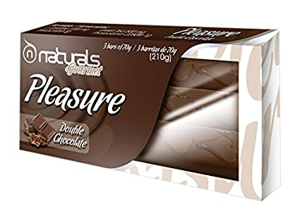 Perfect Nutrition Naturals Pleasure, Barras Nutritivas, Sabor a Chocolate Negro - 3 Barritas