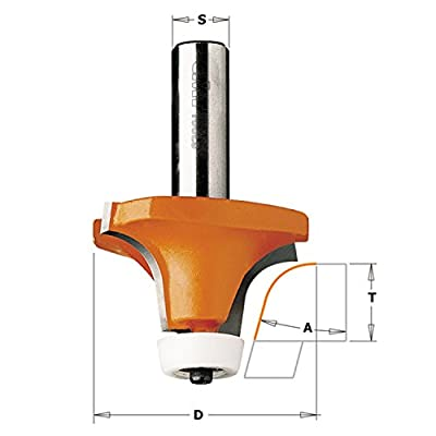 CMT 866.601.11 Solid Surface Rounding Over Bowl Router Bit W/Bearing, 2-Inch Diameter, 1/2-Inch Shank from CMT
