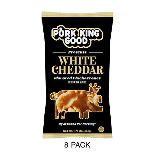 Pork King Good White Cheddar Pork Rinds - 8 Pack ()