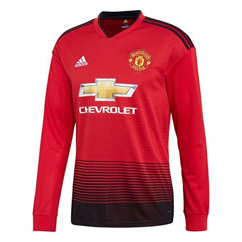 adidas 2018-2019 Man Utd Home Long Sleeve Football Soccer T-Shirt Jersey