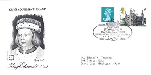 (UK First Day Cover 25 June 1980 Kings And Queens Of England King Edward V 1483)
