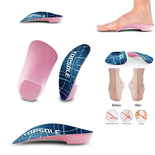3/4 Insert Insole for Foot Pain from Plantar Fasciitis, High Arch,Flatfoot,Over-Pronation, Compound Orthopedic Arch Support Insole