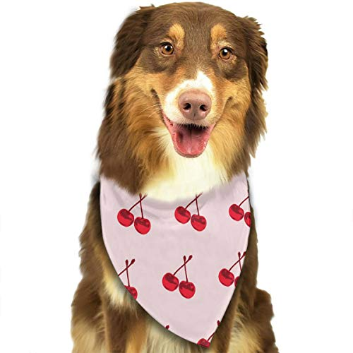 (Pet Scarf Dog Bandana Bibs Triangle Head Scarfs Cherry Accessories for Cats Baby Puppy)