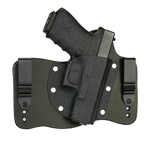 FoxX Holsters Glock 19, 23, 32 in The Waist Band Hybrid Holster (Black)