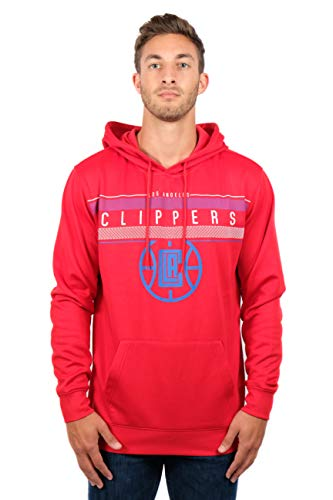 NBA Los Angeles Clippers Men's Fleece Hoodie Pullover Sweatshirt Poly Midtown, XX-Large, Red