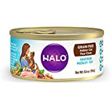 Halo Grain Free Natural Wet Cat Food, Indoor Seafood Medley Recipe Pate, 5.5-Ounce Can (Pack of 12)