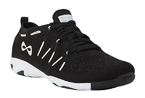Nfinity Flyte Night Cheer Stunt Shoe Sneaker, Black, 8.5 Regular US
