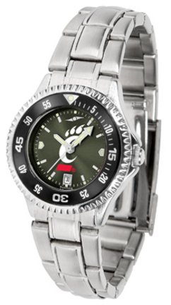 SunTime Cincinnati Bearcats Competitor AnoChrome Ladies Watch with Steel Band and Colored Bezel