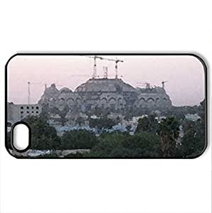 lintao diy Baghdad, Iraq - Case Cover for iPhone 4 and 4s (Monuments Series, Watercolor style, Black)