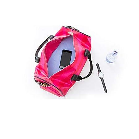 TRAV/&DUFFLGGS Stripe Waterproof Big Travel Bags Large Duffle Bag Travel Organizer Weekend Bags Shoulder Overnight Bags Totes