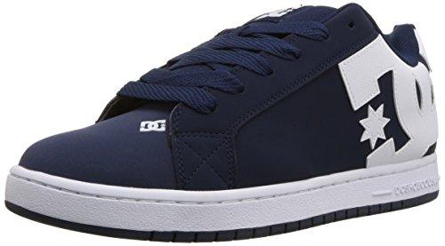 DC Men's Court Graffik Skate Shoe, Navy White, 9.5 D D US ()