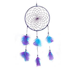 Dream Catcher, UEB Blue + Purple Feathers Dream Catcher Wall Hanging Home Car Decor Craft
