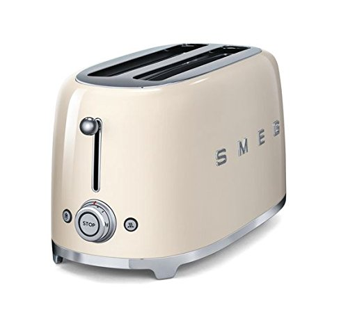 smeg tsf02crus 50 s retro style aesthetic 4 slice toaster. Black Bedroom Furniture Sets. Home Design Ideas