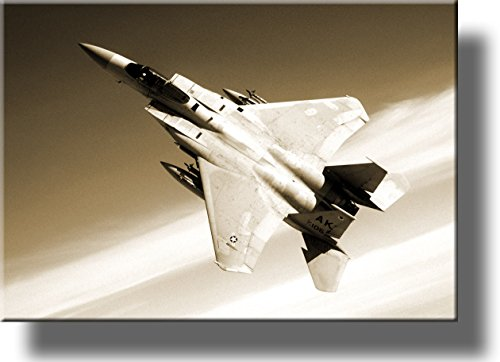 American Fighter Jet Picture on Stretched Canvas, Wall Art Décor, Ready to Hang!