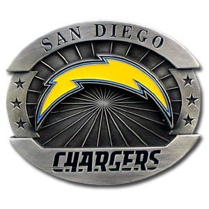 San Diego Chargers Oversized Belt Buckle - NFL Football Fan Shop Sports Team Merchandise