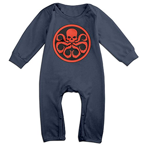 [HOHOE Newborn Babys Hydra Logo Long Sleeve Baby Climbing Clothes Navy 24 Months] (Winter Soldier Costume Ideas)