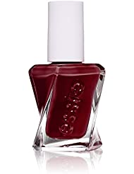 essie gel couture nail polish, spiked with style, deep wine red nail polish, 0.46 fl. oz.