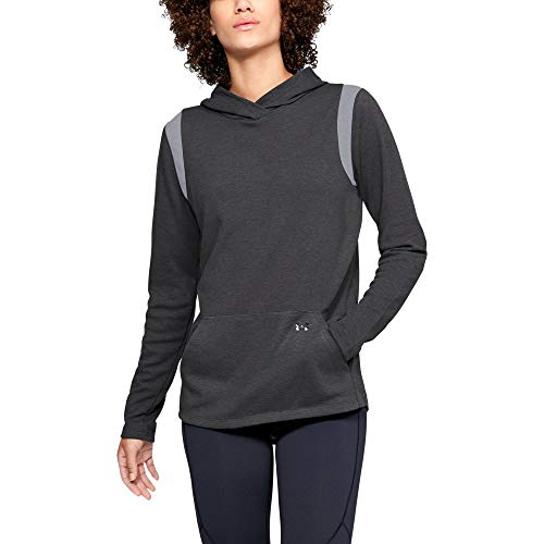 - Under Armour Women's Coldgear Layer Hoodie, Charcoal Light Heath (019)/Black, Small