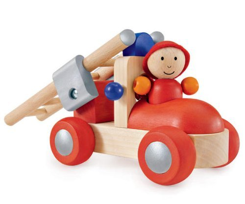Selecta Toys Rosso Rasante - My First Wooden Fire Brigade