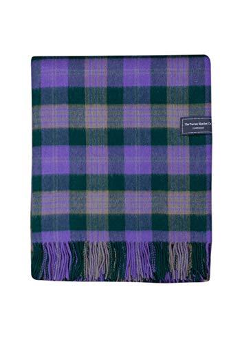 (The Tartan Blanket Co. Lambswool Blanket Tartan Check Highland Green (59