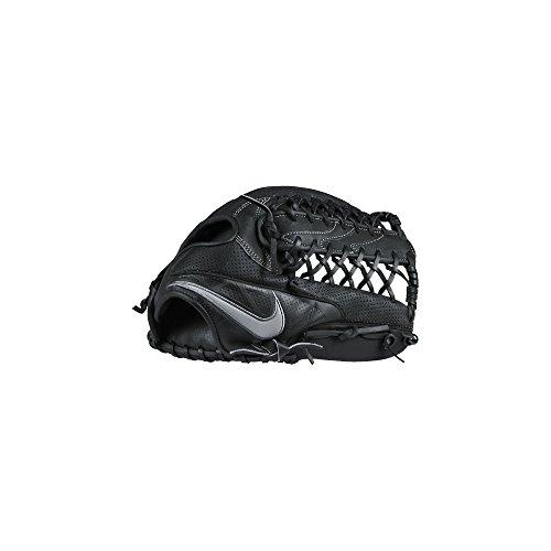 Nike MVP Edge Post-Web Baseball Fielding Glove Black/White Size 12.5 inch Left Hand