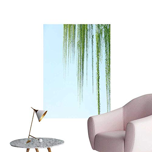 SeptSonne Wall Stickers for Living Room Willow Trees in Spring Vinyl Wall Stickers Print,32