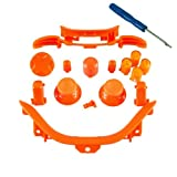 Xbox 360 Orange Full Parts Set (Thumbsticks, D-pad, Buttons, Triggers, Bumpers, Bottom Trim) for your controller (ABXY,Guide,Start, Back)
