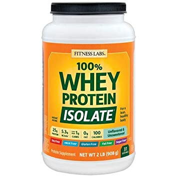100 Whey Protein Isolate Unflavored Unsweetened 2 Lb