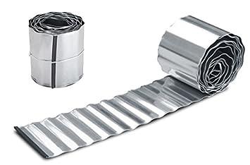 Galvanised Steel Metal Lawn Edging Roll (10m Lengths) H16.5cm (10m)