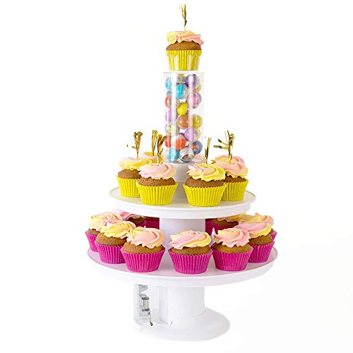 Surprise Cake - 2 in 1 Popping Cake and Cupcake Stand with Music Box -Happy Birthday Melody -