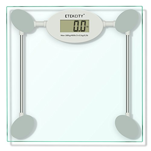 Etekcity Precision Digital Bathroom Scale,Smart Step-on technology, Tempered Glass (White,Batteries Included )