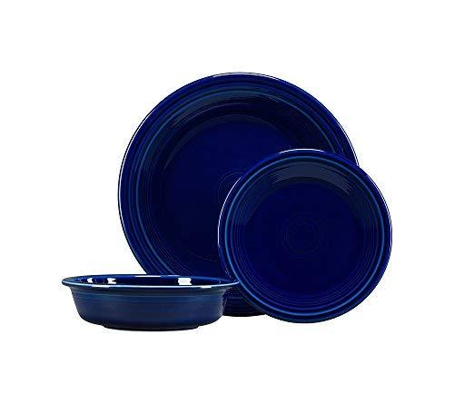 Fiesta 3-pc. Classic Dinnerware Set Cobalt (Dinner Cobalt Set Blue)