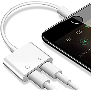 Dongle Headphone Adapter 2A Fast Charging. Headphone Splitter Supports the latest IOS systems. Charging and listening to music at the same time