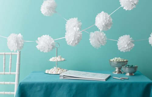 Martha Stewart Crafts Pom-Pom Garland, White