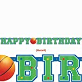 Basketball Birthday Banner 4 1/2ft