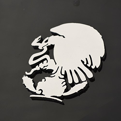 Stainless Steel Mexico Eagle Metal Decorative Emblem Decal Ornament Crest Blasted, Mirror Polished, or Black 5